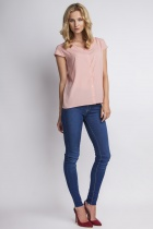 Shirt with short sleeves, K102 pink