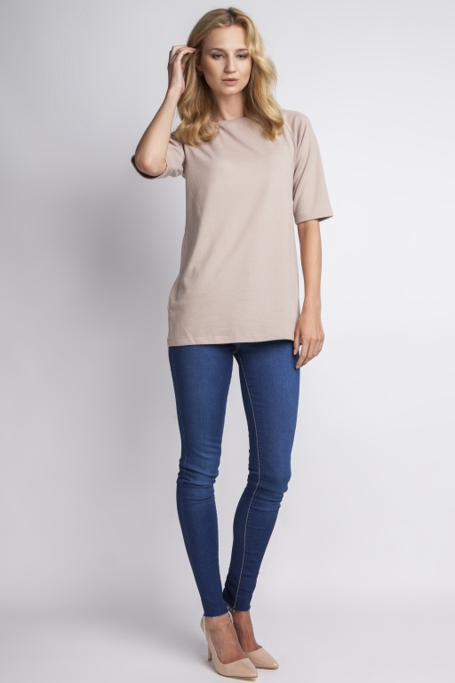 Simple blouse, BLU013 beige