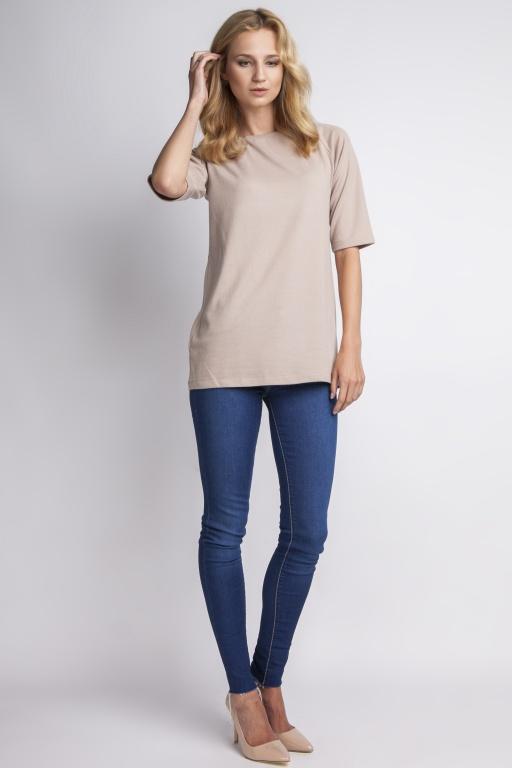 Simple blouse, BLU013 beige