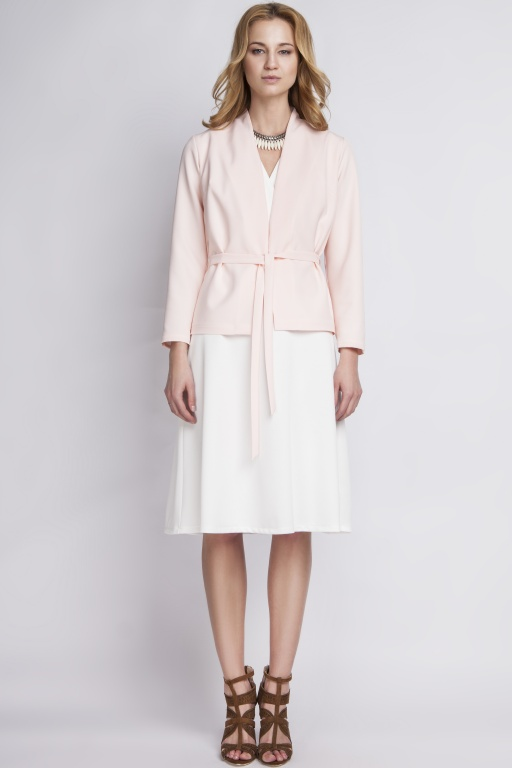 Jacket with belt, ZA110 pink