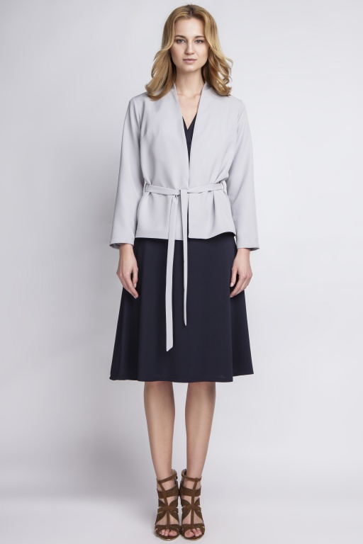 Jacket with belt, ZA110 grey