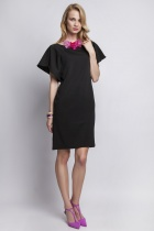 Dress with original sleeves, SUK104 black