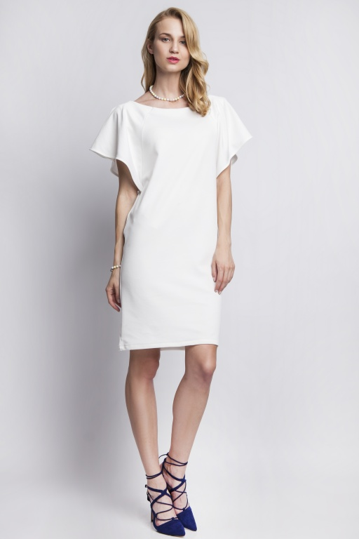 Dress with original sleeves, SUK104 ecru