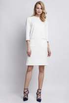 Dress with pockets, SUK103 ecru