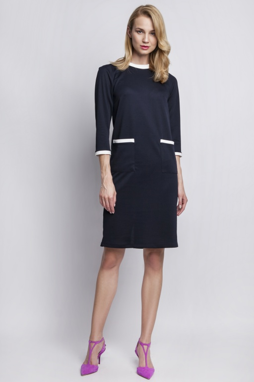 Dress with pockets, SUK103 navy