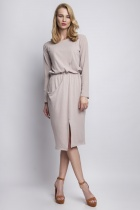 Knitted dress with pocket, SUK109 beige