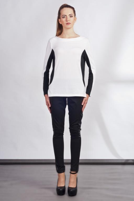 Shirt with longer back, BLU108 ecru