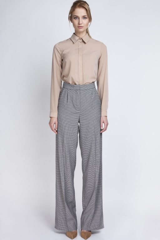 Classic trousers with high-waisted, SD111 pepito