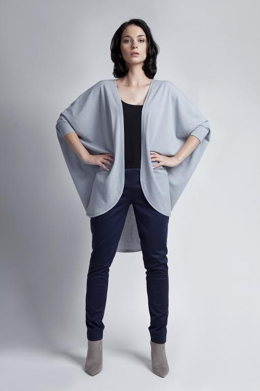 Sweter - nietoperz,S WE107 szary