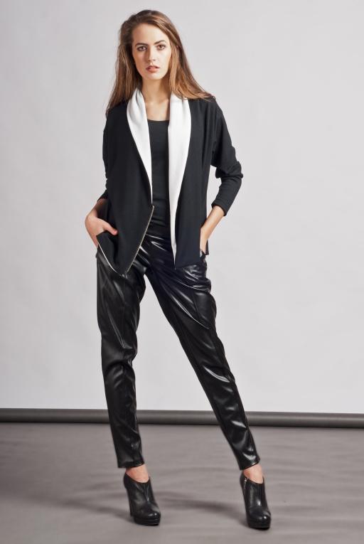 Dressy cardigan with zipper, SWE105 black
