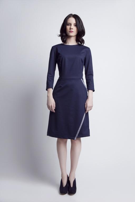 Flared dress, SUK116 navy