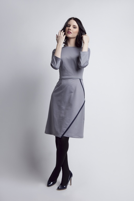 Flared dress, SUK116 grey