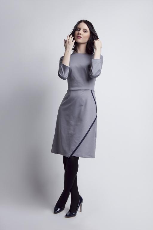 Rozkloszowana sukienka, SUK116 szary