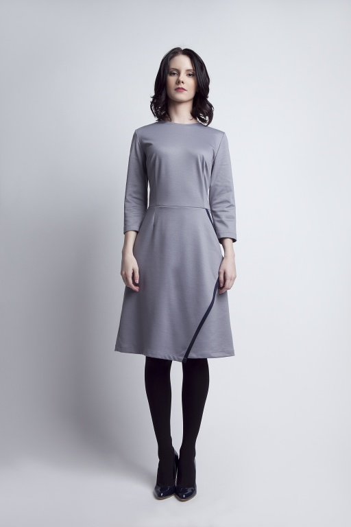 Flared dress, SUK116 grey