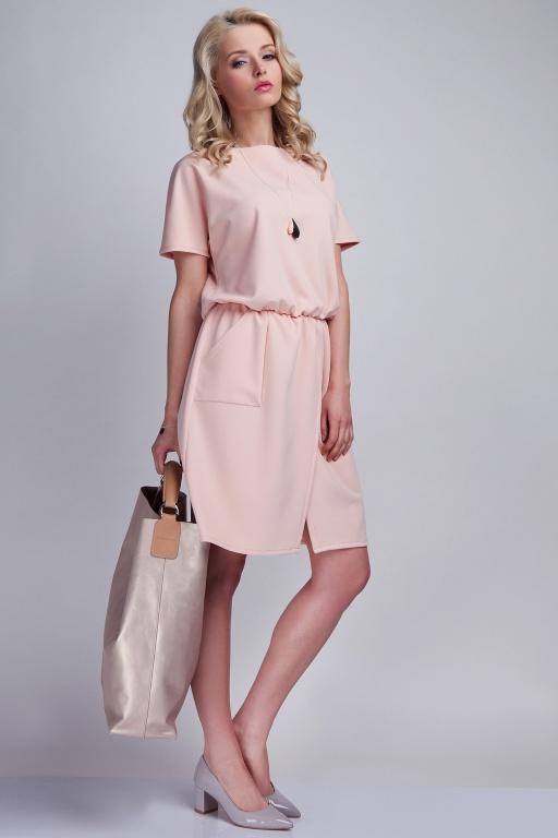 Dress with pockets, SUK117 pink
