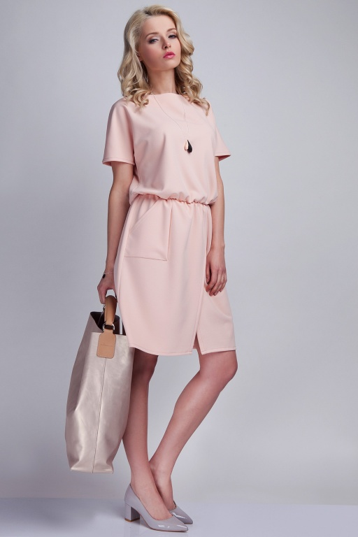 Sukienka z kieszeniami, SUK117 róż