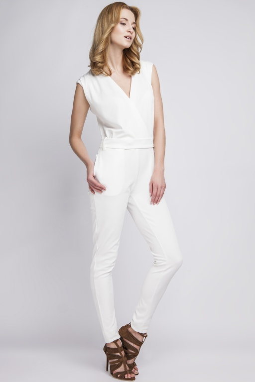 Jumpsuit sleeveless,  KB109 ecru