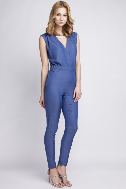 Jeans sleeveless jumpsuit, KB110 jeans