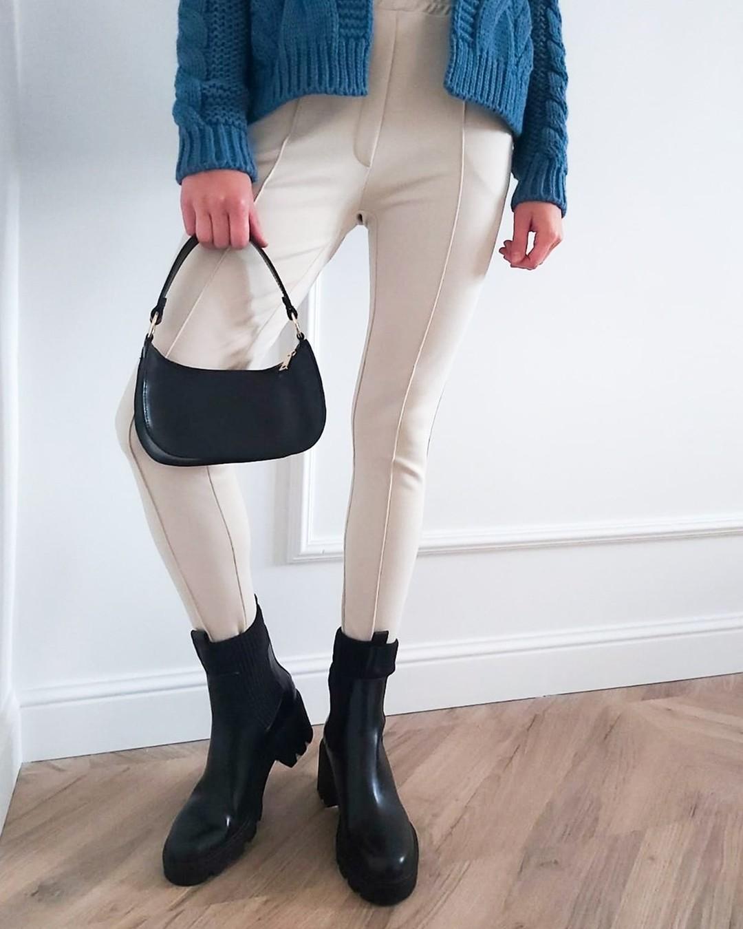 Elegancki kancik plus praktyczne kieszenie i miękka guma w pasie. Tak, drogie panie, mamy ideał! #spodnie #cygaretki #jasnespodnie #spodnieecru #spodniewkant #pants #dressypants #nosimyspodnie #winterstyle #winteroutfit #wintergoals #fashionstyle 1969